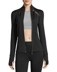 Heroine Sport - Studio Mesh-trim Full-zip Jacket - Lyst
