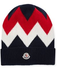 1999fc7c14e Lyst - Moncler Berretto Folded Brim Wool Beanie in Black for Men