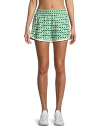 Tory Sport - Printed Pull-on Running Shorts - Lyst