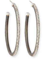 Armenta New World Scalloped-edge Hoop Earrings - Metallic