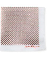 Ferragamo - Men's Sailboat Cotton Twill Pocket Square - Lyst