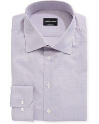 Giorgio Armani - Mini Tattersall Barrel-cuff Dress Shirt - Lyst