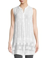 Johnny Was - Darla Sleeveless Long Button-front Tunic - Lyst