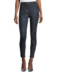Elie Tahari | Roxanna Skinny Denim-effect Leather Pants | Lyst