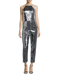 Black Halo - Delatorre Sequin Straight-leg Jumpsuit - Lyst