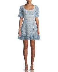 Self-Portrait - Floral Lace Dress - Lyst
