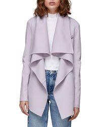 Mackage Vane Wool Coat W/ Leather Sleeves - Black