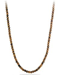 David Yurman Spiritual Bead Necklace With Tiger's Eye - Metallic