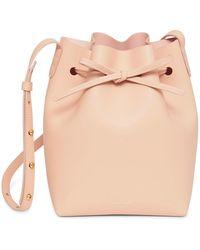 Mansur Gavriel - Calf Leather Mini Bucket Bag - Lyst