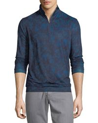 Peter Millar - Perth Stretch Camouflage Quarter-zip Sweater - Lyst