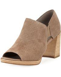 Eileen Fisher - Milton Open-toe Block-heel Booties - Lyst