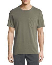 Billy Reid - Washed Pocket Crewneck T-shirt - Lyst