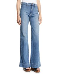 AO.LA by alice + olivia - Gorgeous High-rise Wide-leg Jeans W/ Rainbow Pockets - Lyst