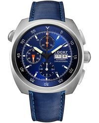 Tockr Watches - Air Defender Chronograph Leather Watch - Lyst