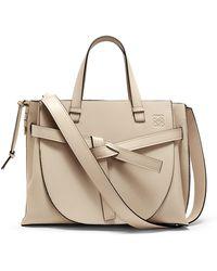 Loewe - Gate Leather Tote Bag - Lyst