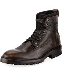 John Varvatos | Catskill Leather Lace-up Hiking Boot | Lyst