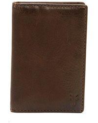 Frye - Oliver Tall Leather Bi-fold Wallet - Lyst