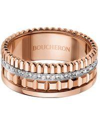 Boucheron Rose Gold Quatre Radiant Edition Small Ring - Metallic