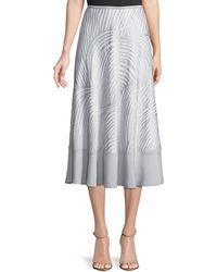 NIC+ZOE Bohemian Groves A-line Skirt - Gray