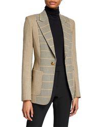 A.L.C. Martel Single-button Check Jacket - Multicolor