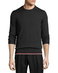 Moncler - Knitted Wool Crewneck Sweater - Lyst