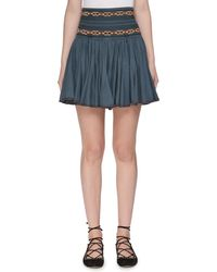 Étoile Isabel Marant - Breeda High-waist Circular Chambray Skirt With Embroidery - Lyst