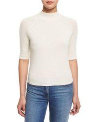 Theory - Jodi B Cashmere Mock-neck Sweater - Lyst