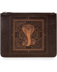 Givenchy | Men's Coated Canvas Cobra-print Pouch | Lyst