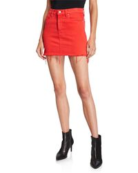 Hudson Jeans The Viper Mini Skirt. Size 25,26,27. - Red
