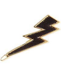 Mignonne Gavigan 14k Gold Threaded Lightning Bolt Hair Clip - Metallic