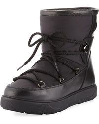 Moncler - New Fanny Lace Ankle Snow Bo - Lyst