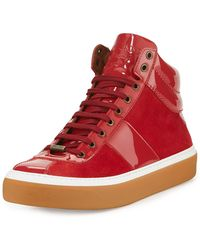 Jimmy Choo | Belgravi Men's Leather High-top Sneaker | Lyst
