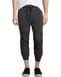 True Religion - Slim-fit Cuffed Moto Jogger Pants - Lyst