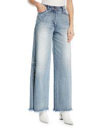 Johanna Ortiz - Mombasa High-waist Wide-leg Jeans With Side Slits - Lyst