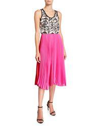 Loyd/Ford - Mixed Silk Pleated Tank Dress - Lyst