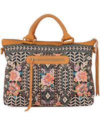 Johnny Was Maeve Embroidered Cotton Canvas Tote Bag - Black