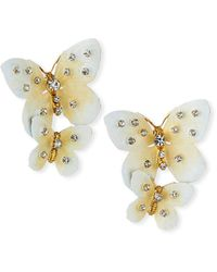 Jennifer Behr Lisabetta Butterfly-dangle Earrings - Multicolor