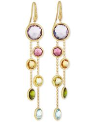 Marco Bicego - Jaipur 18k Gold Mixed Stone Two-strand Earrings - Lyst