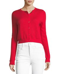Neiman Marcus - Open-weave Silk/cashmere Cardigan - Lyst