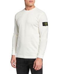 Stone Island Men's Crewneck Cotton Sweatshirt - White