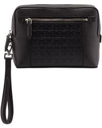 Ferragamo - Men's Firenze Gamma Textured Leather Belt Bag - Lyst