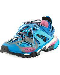 Balenciaga - Track Colorblock Mixed Sneakers, Bleu Roi - Lyst