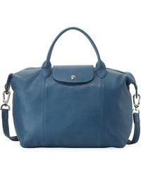 Longchamp - Le Pliage Cuir Medium Handbag - Lyst