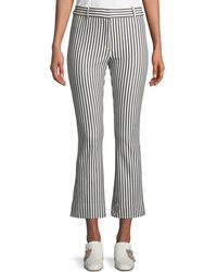 10 Crosby Derek Lam - Striped Cropped Flare-leg Trousers - Lyst