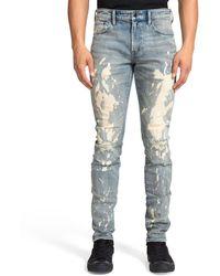 PRPS Men's Windsor Fit Ripped & Bleached Jeans - Blue