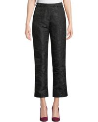 Etro - High-rise Straight-leg Jacquard Pants - Lyst