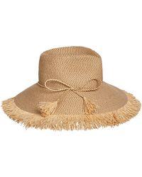 Eric Javits - Antigua Woven Raffia Fringe Sun Hat - Lyst