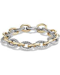 David Yurman Oval Large Link Bracelet With Gold - Metallic