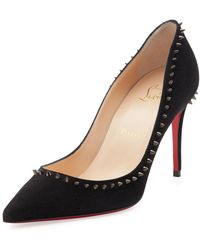 ed1ea6b17f1c Christian Louboutin Spikoo Spiked Ankle-wrap Red Sole Pumps in ...