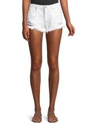 Joe's Jeans - Mid-rise Distressed Denim Cutoff Shorts - Lyst